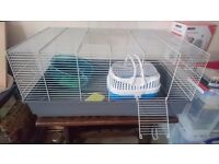 Rat Cage & Accessories, incl. wheels, carry cage, bottle holder