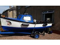 Fishing boat for sale. Really good condition engine just serviced. dt30 oil injection Suzuki.