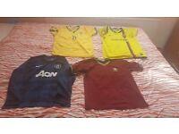Football shirts boys 10yr,12yr,13yr