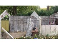 Concrete sectional garage, shed, workshop free to collector