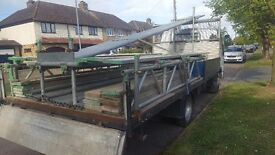 Scaffold tube and truck