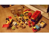 Happy Land and Early Learning Centre Bundle - £10 - Cottage, Bus, JCB etc