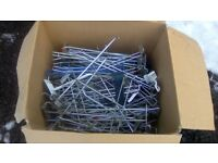Job lot various sizes slat wall pins/hangers 140 in total