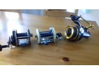 3 fishing reels abu 9000 Mitchell 600 Penn 7704z all in excellent condition