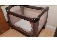 Graco Contour Electra Taupe Spots Travel Cot or Playpen