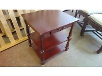 Vintage Side Table with Single Drawer
