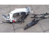 aprilia rs50 frame and bits with v5 125 rs 50 pit bike