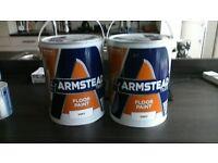 floor paint armstead 2x 5 liter in grey