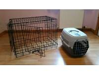 Pet cage and carrier for small dog or cat etc