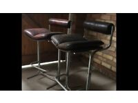 2 retro bar stools