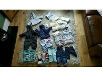 LARGE BUNDLE BABY CLOTHES. BOY 0-3 MONTHS