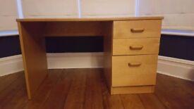 Light Natural Oak Veneer desk (originally from John Lewis)