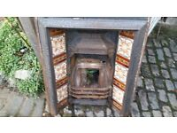 Lovely Cast Iron Victorian Fireplace
