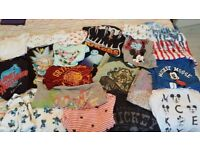 65 pieces of women's clothes - tshirts, jeans, jackets, dresses, shoes, jammies, hats, swimwear