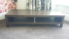very nice Large TV Stand Wood affect.