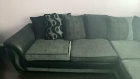 Black and grey scatter cushion corner unit