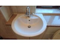 Complete/Full Bathroom Suite - Bath, Toilet, Sink, Shower, Towel Radiator