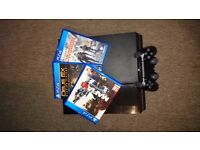 PS4 500gb + 3 games + New version Dual Shock 4 + PS Plus 90 days