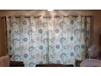 Next curtains with pole and tie backs