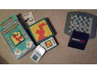 2 CHALLENGING PUZZLE GAMES for £7 - Like New - Ideal for holiday, car, caravan, bedside table etc
