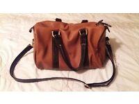 Small tan leather, Clarks handbag