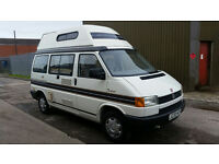WARRANTY VW AUTOSLEEPER TRIDENT CAMPERVAN 1991, NO RUST SOLID CHASSIS. SOLID BODYWORK LOVELY COND