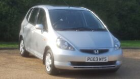 HONDA JAZZ 1339cc SE AUTOMATIC 03PLATE 2P/OWNER 103000 MILES FULL SERVICE HISTORY AIRCON SUNROOF
