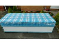 Small Single Divan Bed with Mattress
