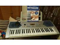 Electric keyboard with adopter piano