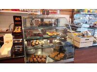 Cake display for coffee shop.