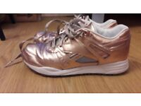 REEBOK FRUITION rose gold Limited Edition, size 6, leather