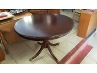 Round Mahogany Pedestal Table
