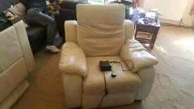 2 Electric Recliner Chairs And A 3 Seater Sofa