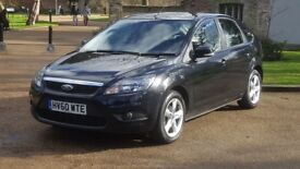 FORD FOCUS 1.6 ZETEC 60PLATE 2010 1P/OWNER 110000 MILES SERVICE HISTORY AIRCON ALLOY IN BLACK 5DOOR