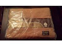 Witney Blanket Vintage Virgin Wool Camel Moderna Nova King Size 91 x 98, 230/250