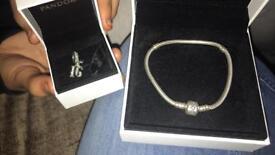 Pandora bracelet and 16th charm