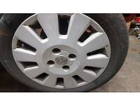 Set of 4 ALLOY WHEELS all with EXCELLENT tyres