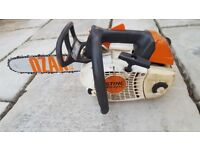 Stihl MS201T top handle chainsaw new bar and chain 2013 model