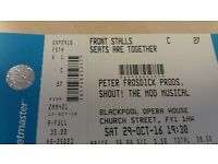 2 Tickets for Shout at Blackpool Opera House