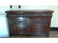 Edwardian sideboard with carved features