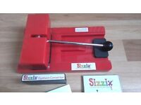 USED Sizzix Machine Original Red Die Cutting Machine With Converter & Cutting Pad. Bromborough.