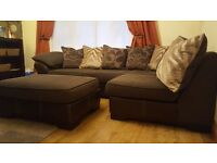 Lovely, large, corner sofa with scatter back cushions