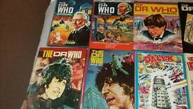 Dr Who annuals SOLD