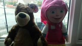 MASHAM AND THE BEAR SOFT TOYS