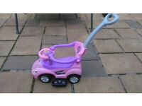 Push Along Car With Parent Handle