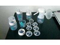 Mothercare Innosense breast pump and bottles