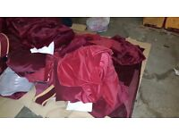 Huge Bulk Load of Red Velvet Theatre Curtains / Heavy Duty and Chained