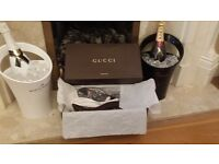 GUCCI mens 100% genuine Brown Micro Guccissima leather Flip Flops Sandals size 7 FINAL REDUCTION
