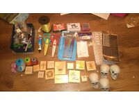 Craft kit, stamps, buttons etc