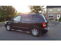 LONG MOT-BLACK-LATE 2006-KIA SEDONA LS-2.9 DIESEL-7 SEATS-CHEAP!(not Ford,Volkswagen,Seat)